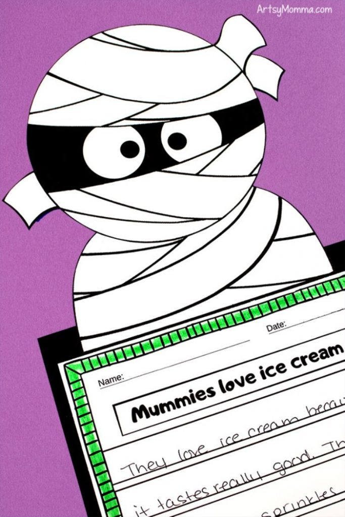 printable mummy writing craft