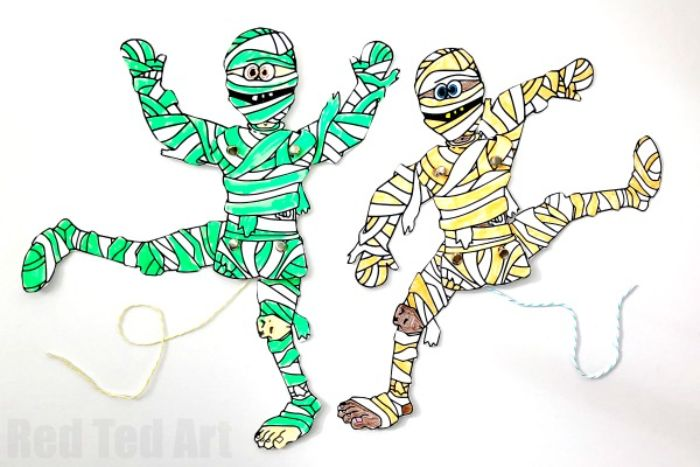 printable mummy puppets