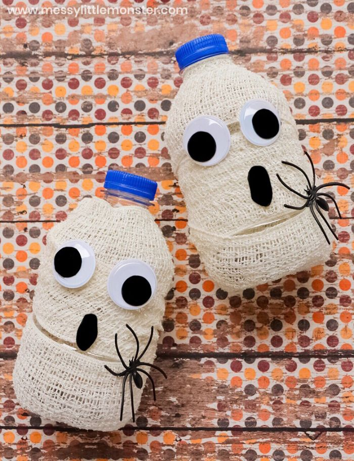 mummy wrapped water bottles