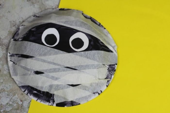 mummy made out of a paper bowl