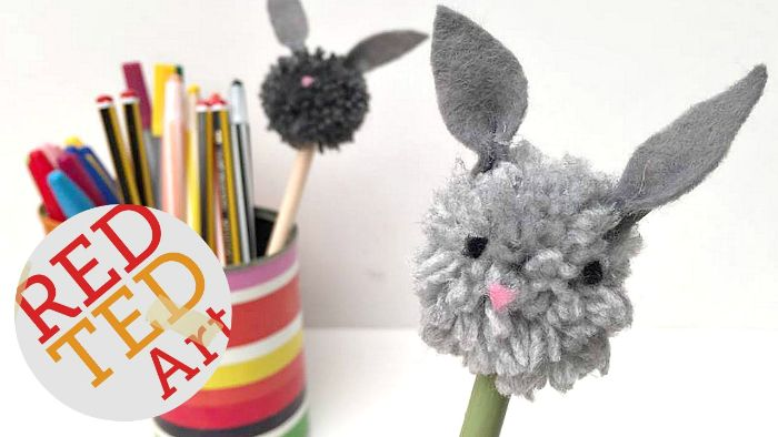 bunny pencil toppers for easter