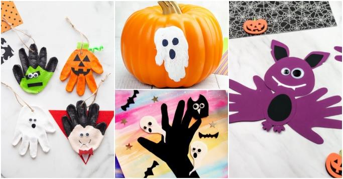 cute halloween handprint crafts for kids