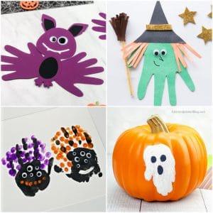 halloween handprint crafts collage