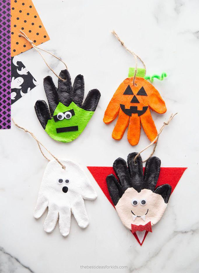 handprint halloween salt dough crafts by The Best Ideas for Kids