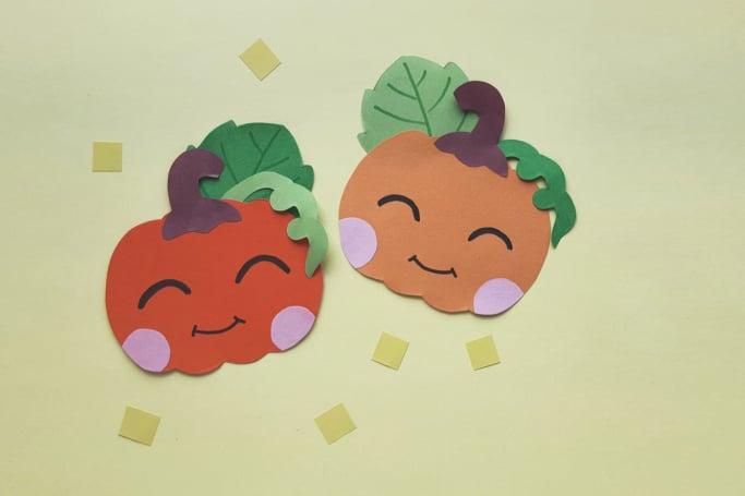 happy paper pumpkin craft horizontal 3
