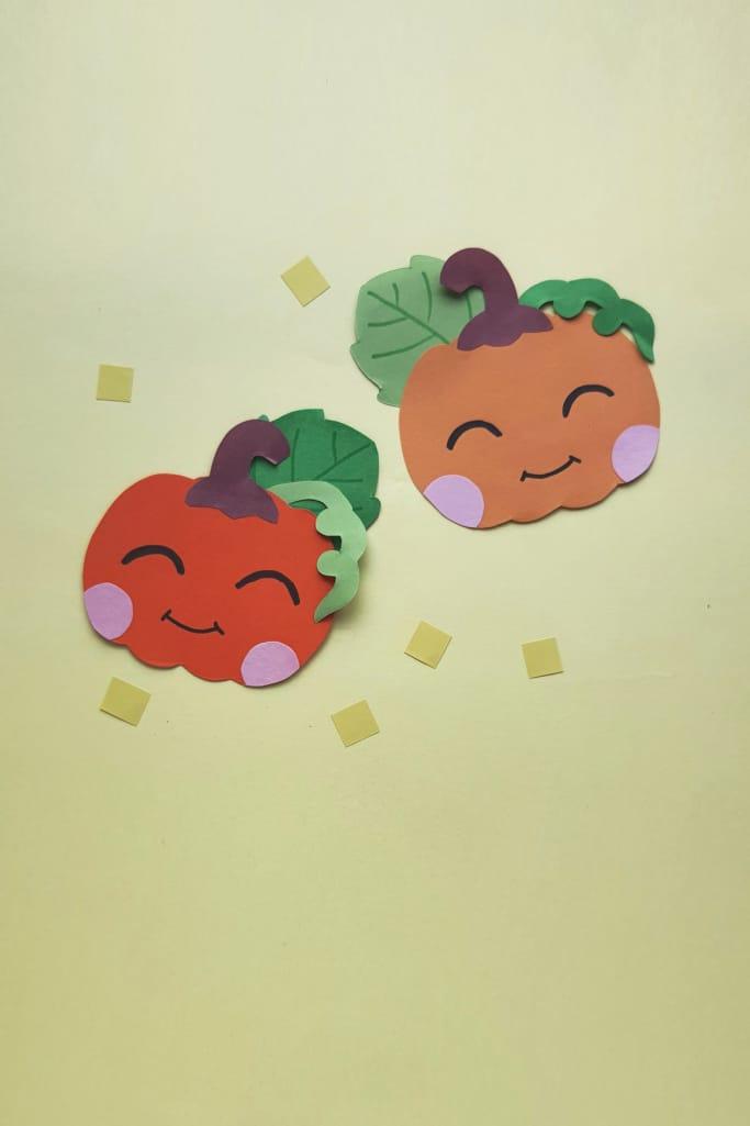 cute paper pumpkin craft idea
