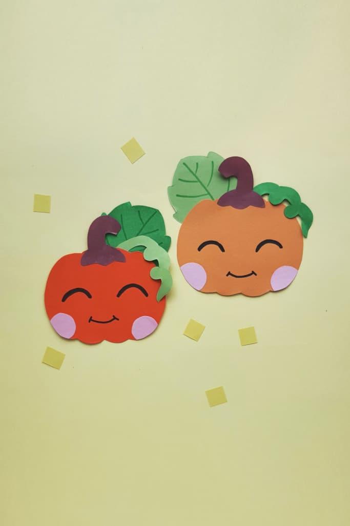 easy paper pumpkin craft for kids