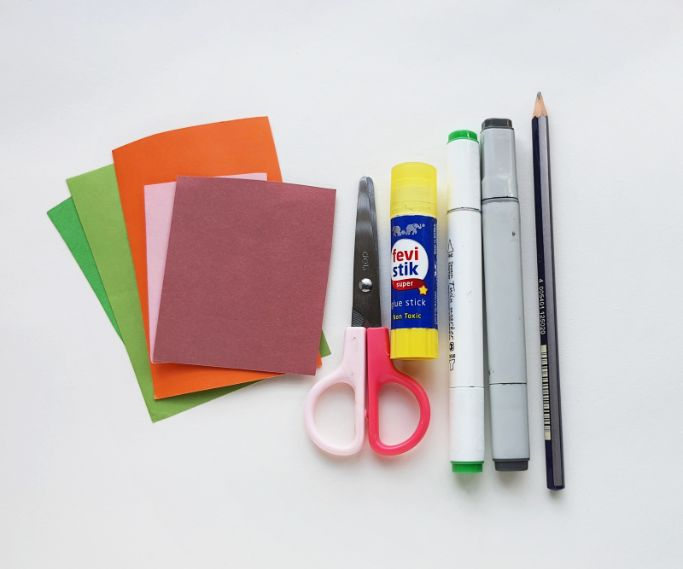 materials for paper pumpkin craft