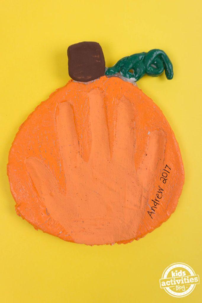 salt dough pumpkin keepsake by Kids Activities