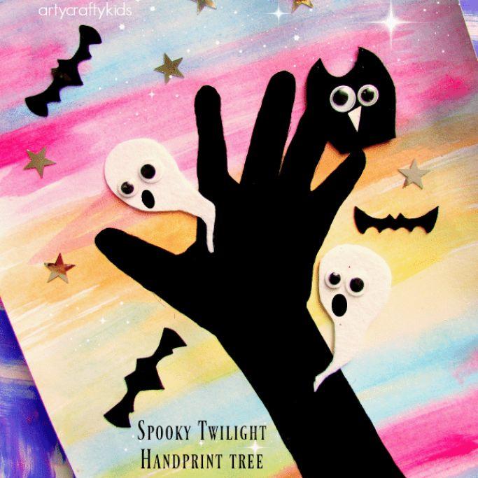 spooky twilight tree by Arty Crafty Kids