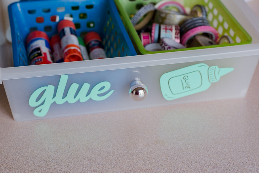 completed glue drawer