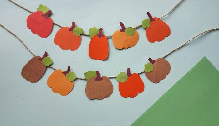 closeup of pumpkin banner
