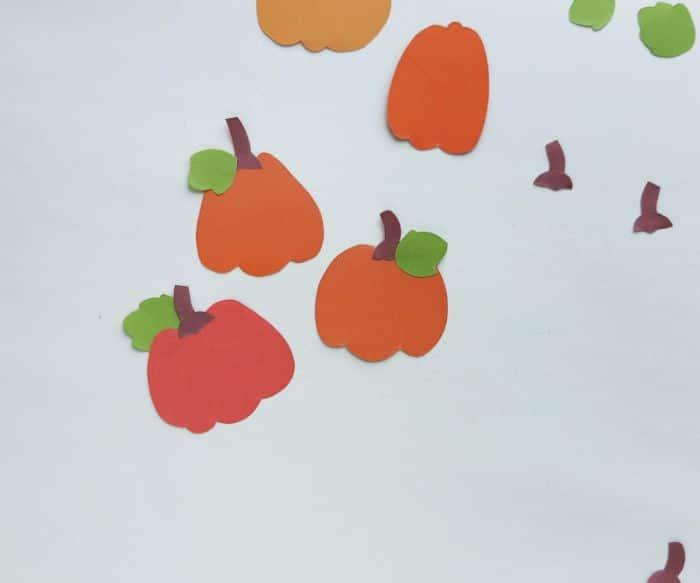 assembling the pumpkins