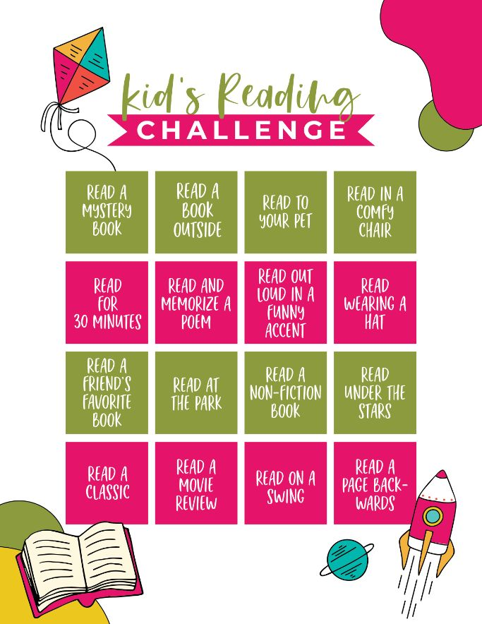 printable kids reading challenge