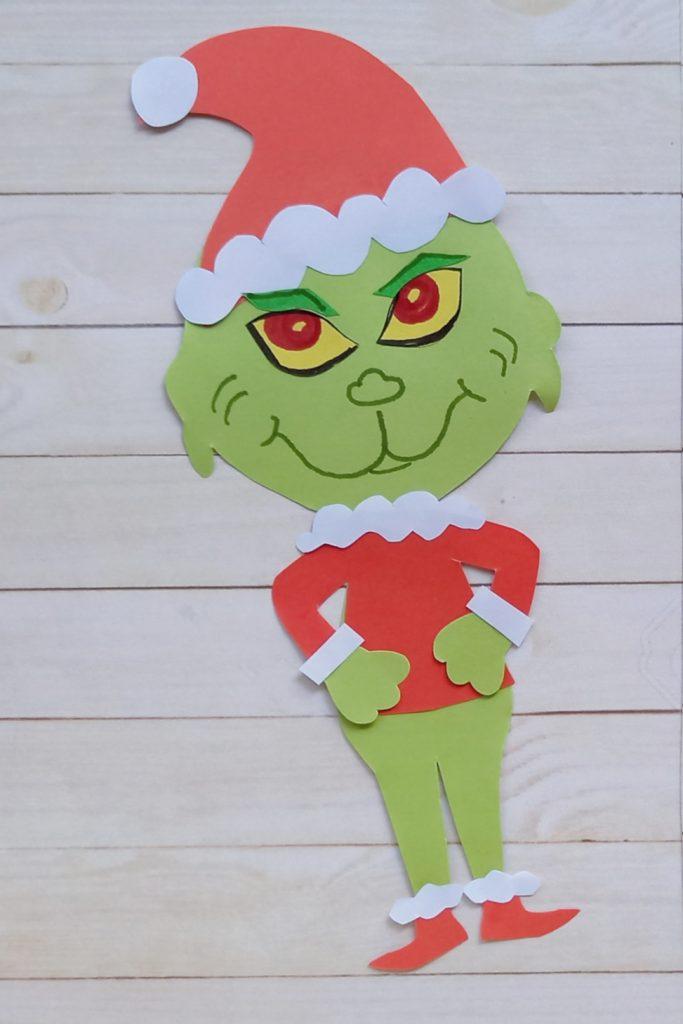 paper Grinch craft