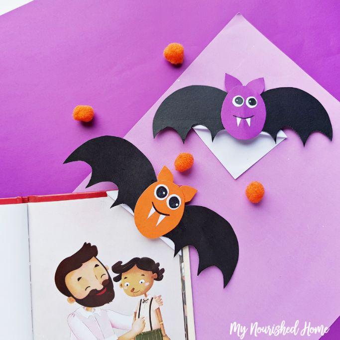 bat corner bookmarks by my nourished home