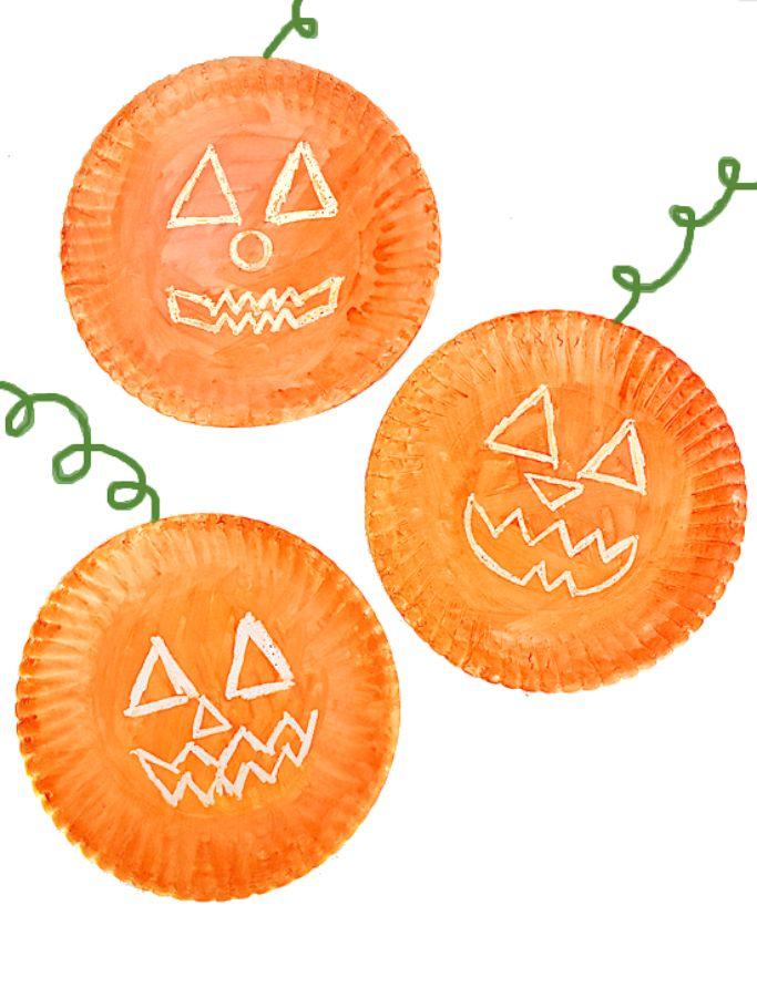crayon resist pumpkin craft by Our Kid Things