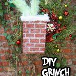 diy grinch wreath pin