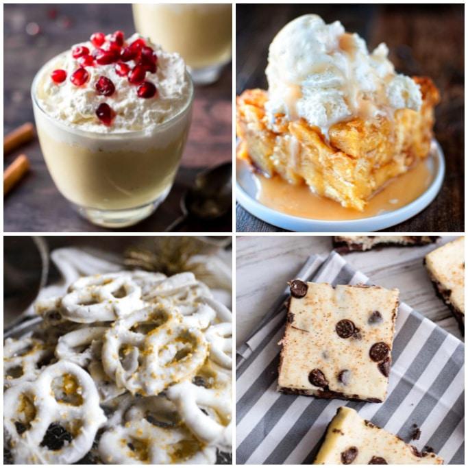 eggnog dessert recipes square