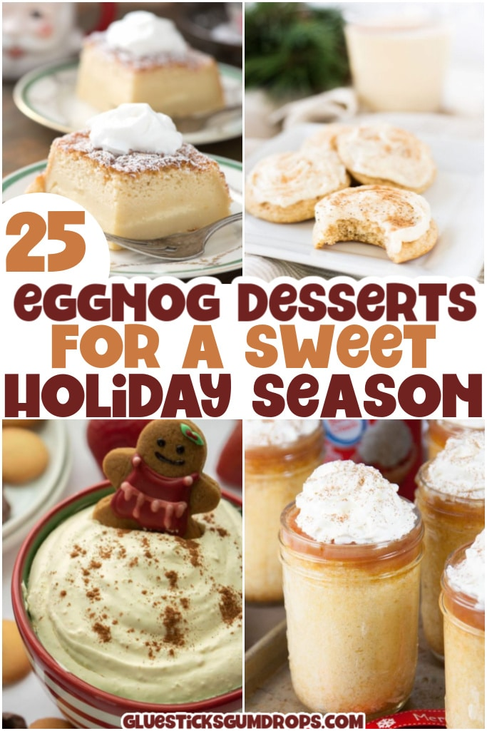 eggnog dessert ideas for the holidays