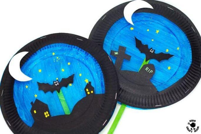 flying bat craft by Kids' Craft Room