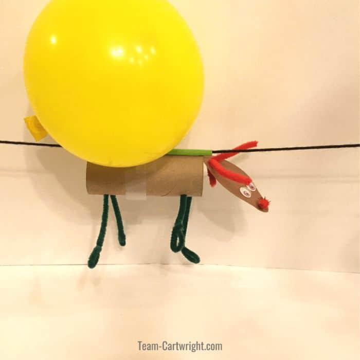 flying reindeer STEM activity