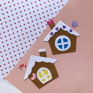 gingerbread house craft preschool
