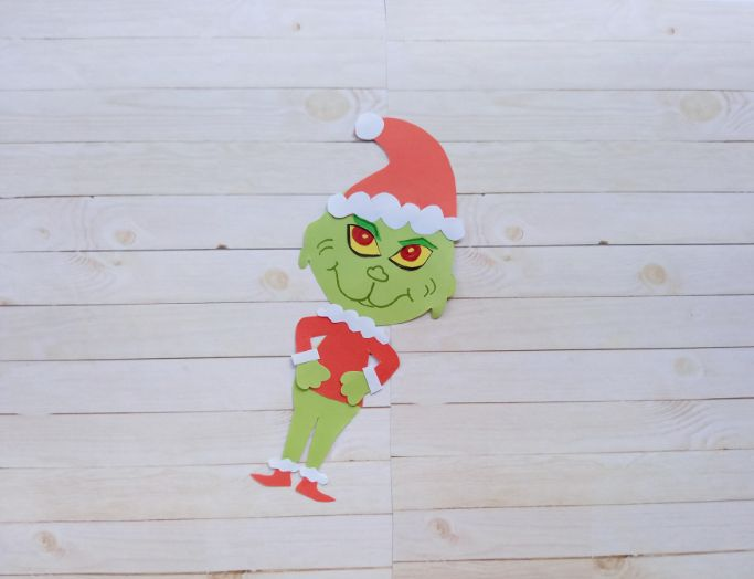 paper Grinch craft for the holidays