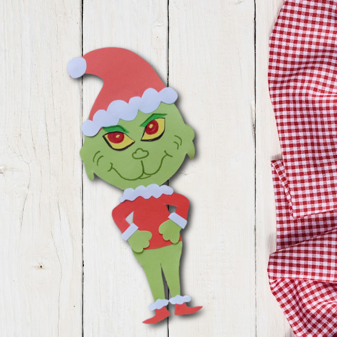 paper Grinch craft idea for the holidays