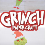 grinch paper craft pin collage