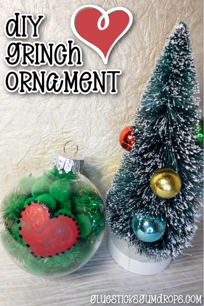 finished grinch ornament kids craft