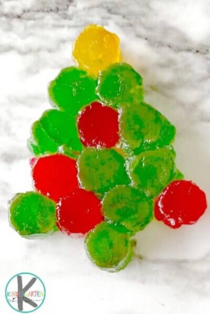 ornaments made from melting gumdrops