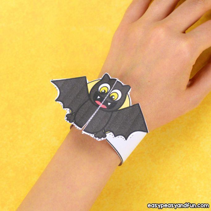 bat halloween bracelet from easy peasy and fun