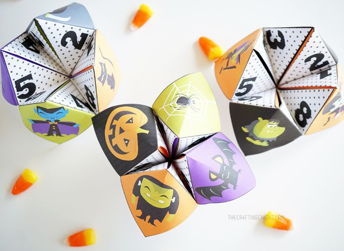 halloween cootie catchers from the crafting chicks