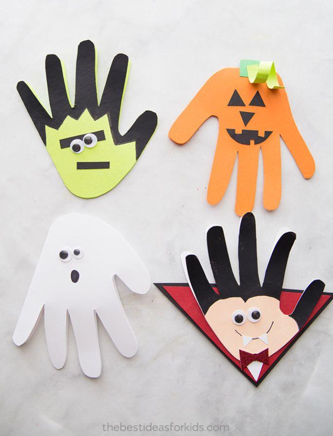 halloween handprint keepsakes by the best ideas for kids