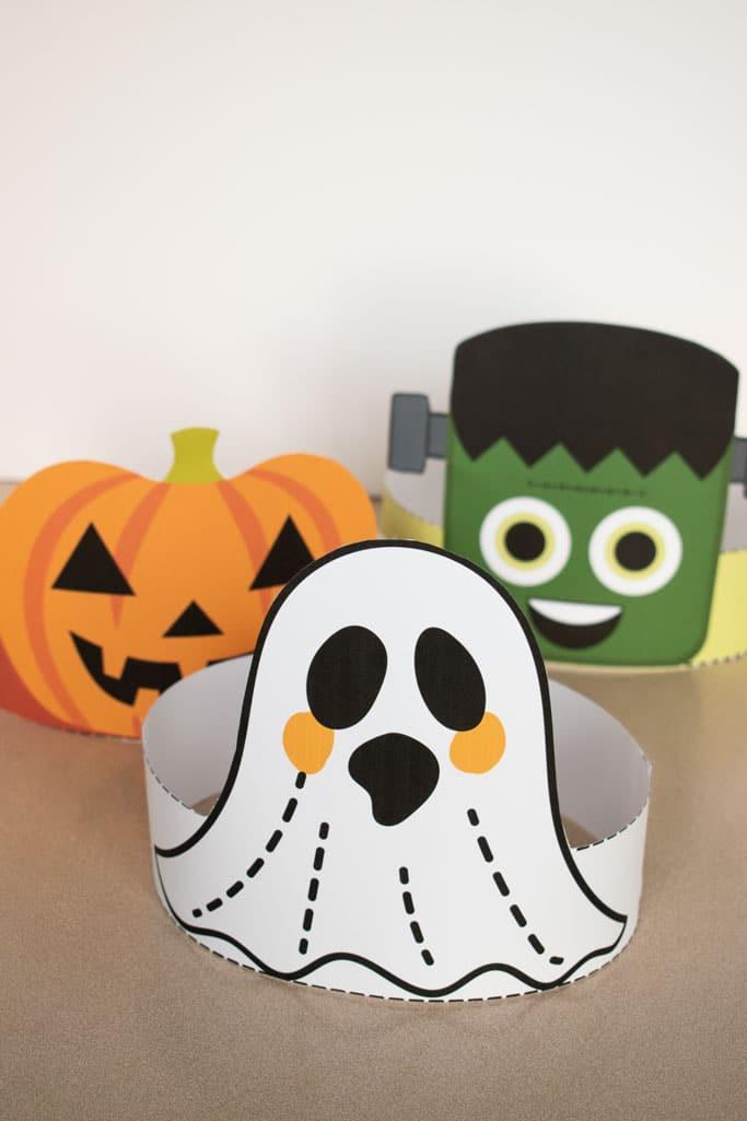ghost headband printable halloween craft