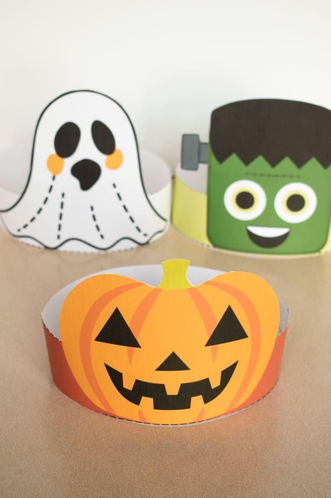 jack-o-lantern halloween headband in front