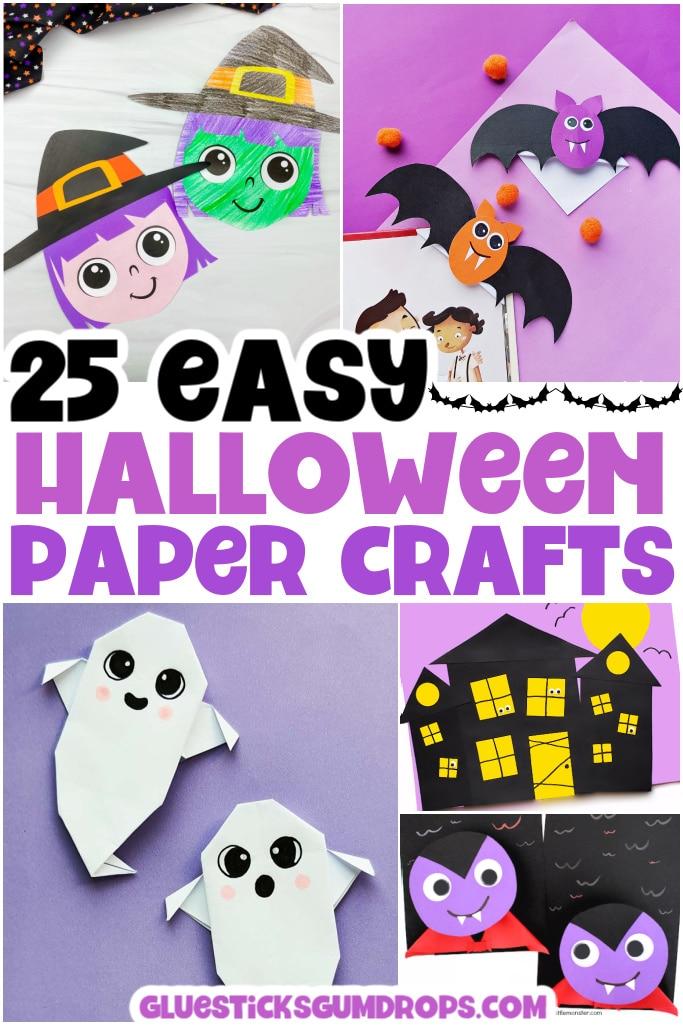 paper halloween crafts collage