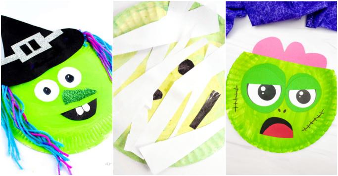 cute halloween paper plate crafts