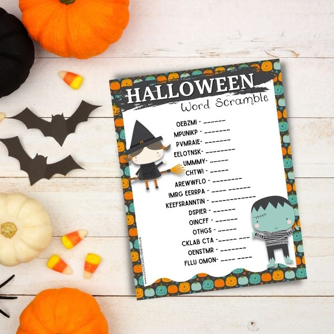featured image for halloween word jumble