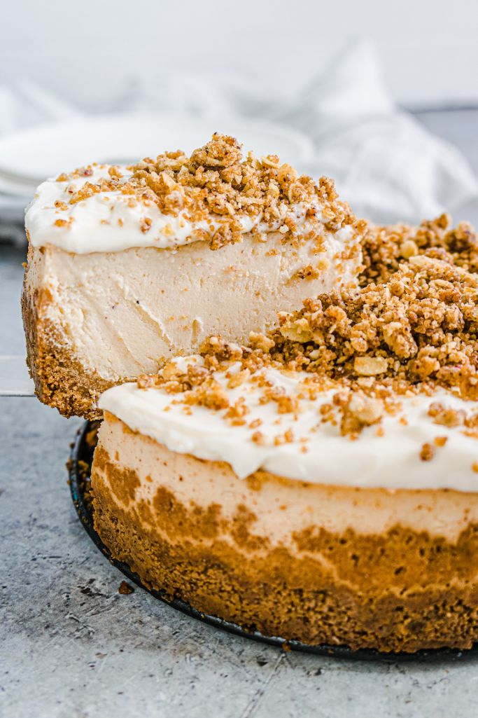 eggnog cheesecake made in the instant pot