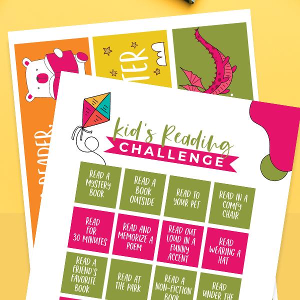 kids reading challenge square
