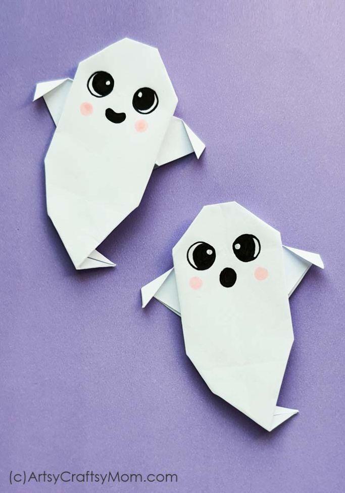 origami ghosts from Artsy Craftsy Mom