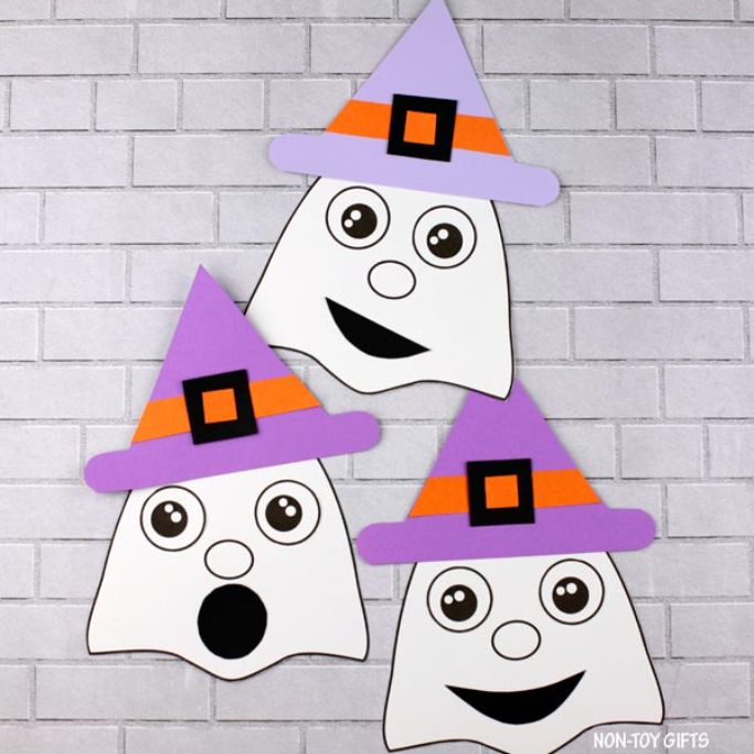 ghost with witch hat by non-toy gifts