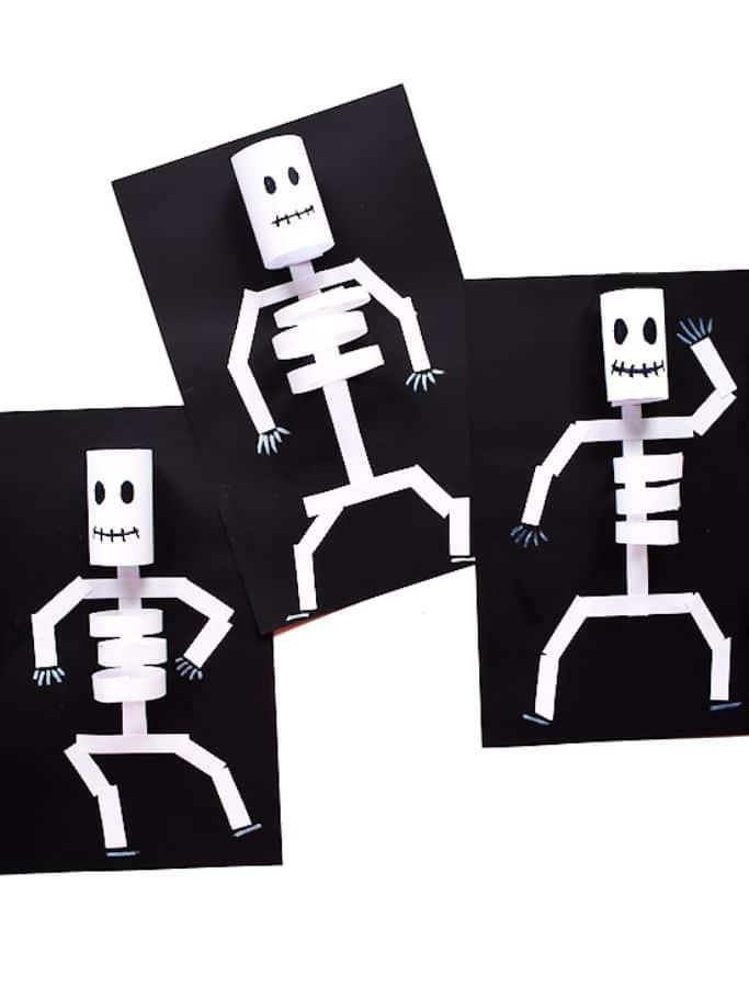 paper loop skeletons by our kid things