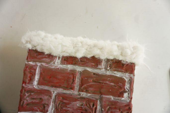 white trim on chimney