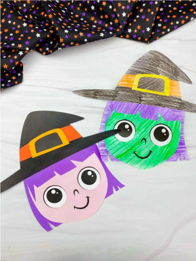 paper witches from Simple Everyday Mom